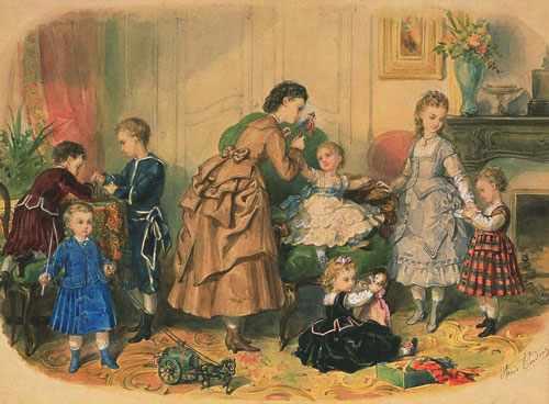детская мода 18-19 век 2