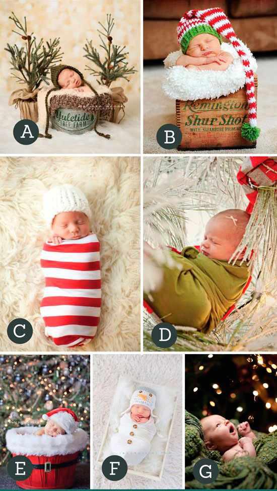 лучшие идеи для новогодней фотосессии малышей в студии
