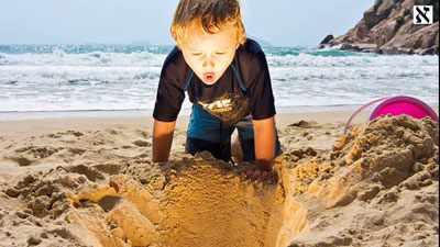 детские игры на пляже