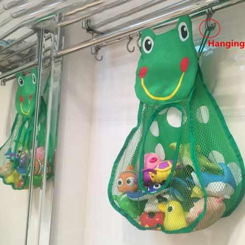 как хранить детские игрушки в ванной 2