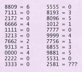 Задача с четырёхзначными числами
