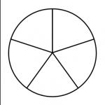 круг из 5 секторов