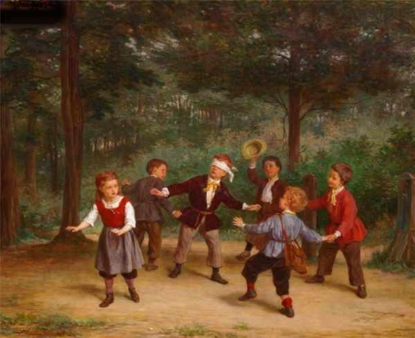 Иллюстрация: дети играют в народную игру