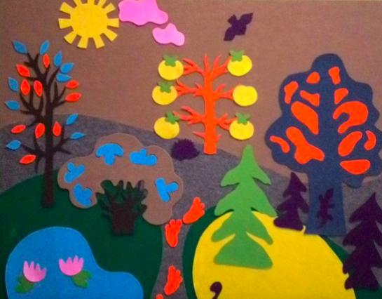 Фиолетовый лес своими руками, этап 3
