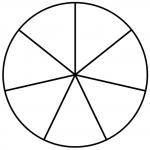 круг из 7 частей