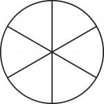круг из 6 секторов