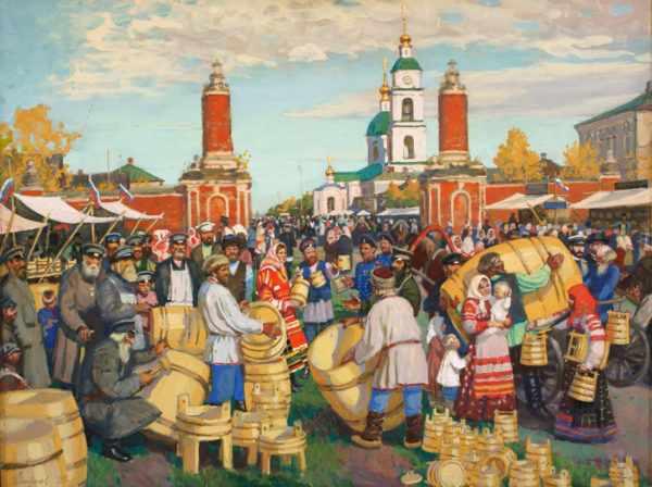 русский базар на картине