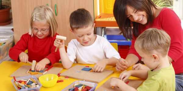 игровое занятие в детском саду