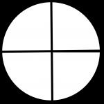 круг на четыре сектора