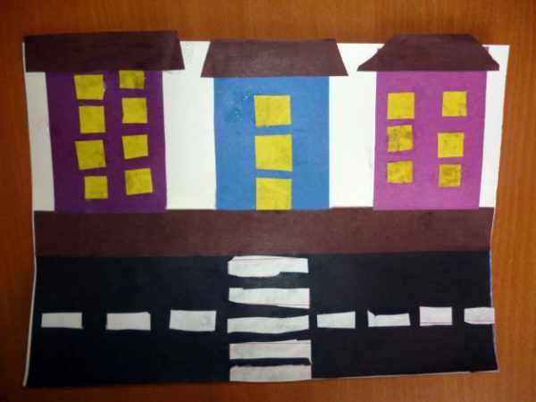 Заготовка домов и дороги с деталями
