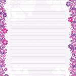 карточка лиловая