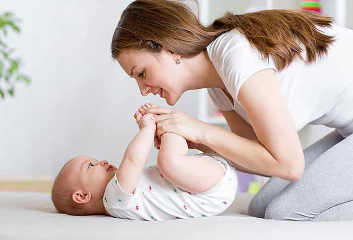 Гимнастика с 3-месячным ребенком